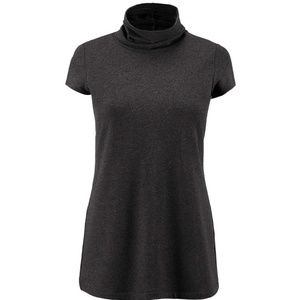 NWT CAbi Roll-Up Tee Size M Charcoal J3